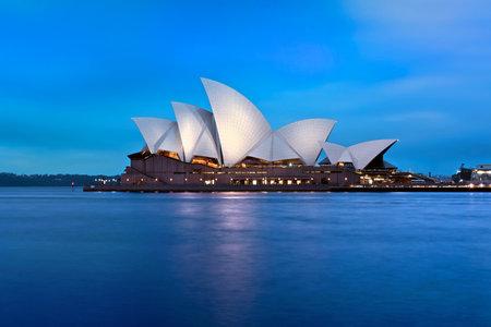 Opera Sydney Australië bij Blue Hour
