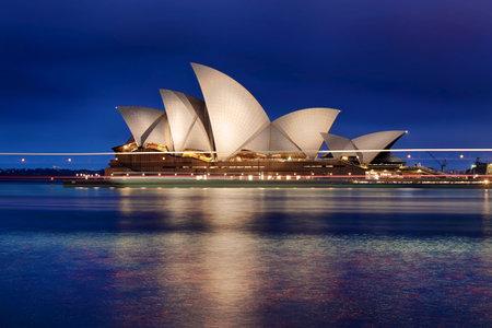 harbour: Sydney Australia at Blue Hour