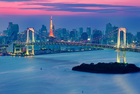 rainbow bridge: Odaiba and the Rainbow Bridge
