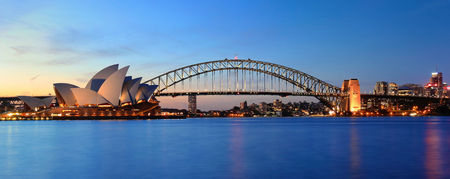 Opera of Sydney at sunset
