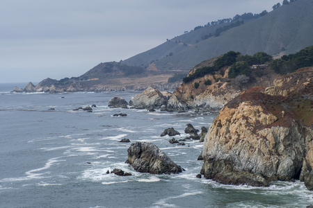 California Coast and the rocks by the sea