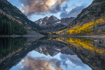 maroon: Maroon Bells and the reflection cloud