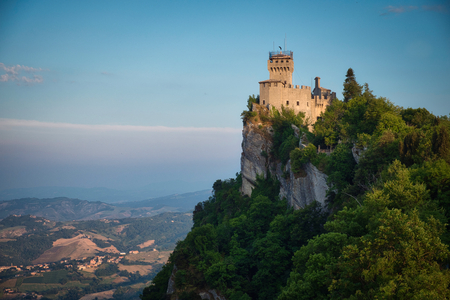 Photo of the panoramic view of the San Marino Castle