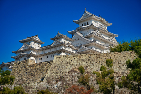 Photo of the Himeji Castle at the autumn time