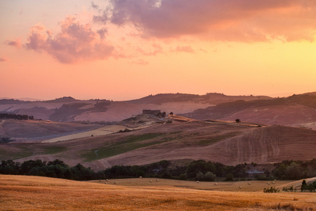 Photo of the sunset time at the Valle dorcia