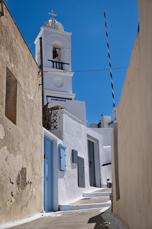 Photo of the church in the city of Megalochori in Greece