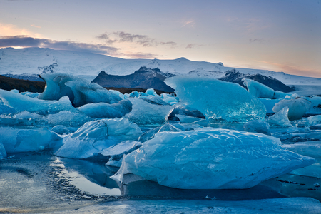 Photo of the ice field in iceland cold weather