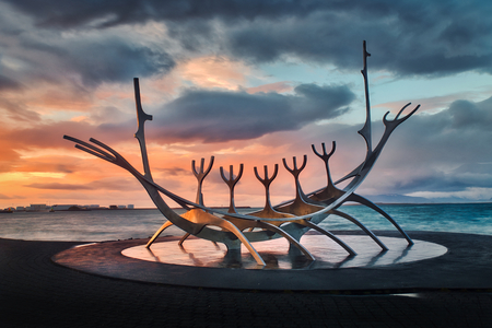 Photo of the sun voyager at the sunset time