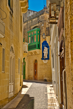 Photo of the Church and Street of Gozo in Malta