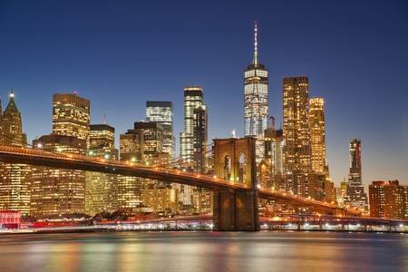 Photo of the blue hour at New York city