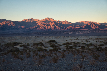 Photo of the sunset time at the Death Valley National Park Stockfoto