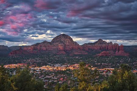 Photo of the panoramic view of Sedona in Arizona Stockfoto