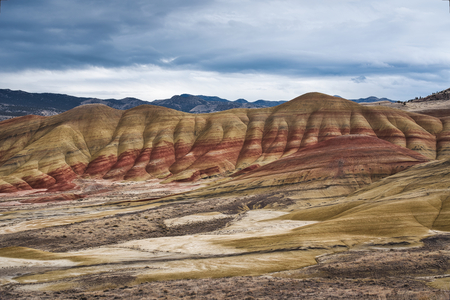 Photo of the painted hills in the state of Oregon Stockfoto