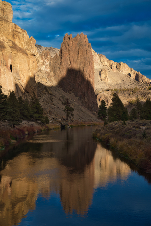 Photo of the Simith Rock State Park at the  Golden Hour