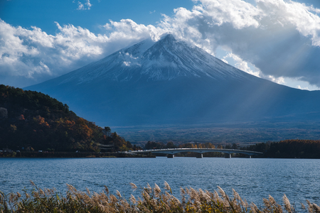 Photo of the Mount Fuji near the sunset time Stockfoto