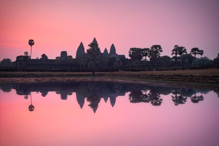 Photo of the temple of Angkor Wat at the sunrise time Stockfoto