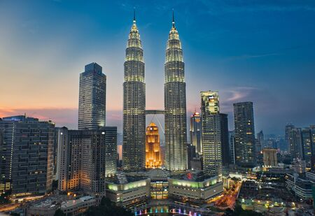Photo of the Kuala Lumpur in Malaysia at the sunset time
