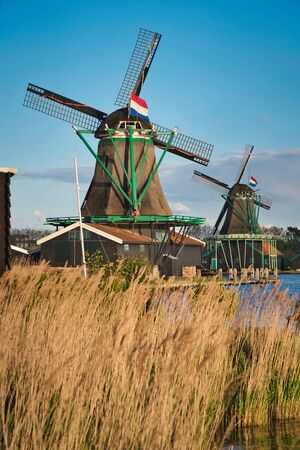 Photo of the Moulin at the Sunset time in the netherlands