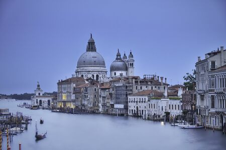 Photo of the grand canal in venice at the blur hour time