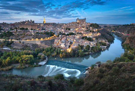 Photo of the Toledo old town at the sunset time