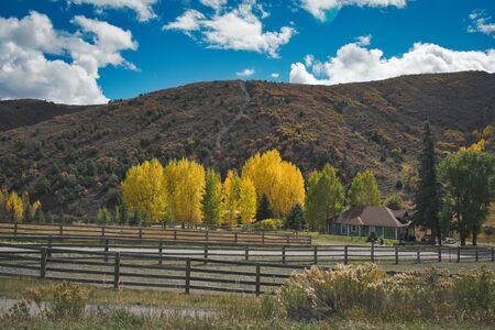 Photo of the countryside of colorado at the autumn season