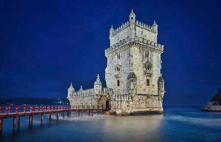 Photo of the Belem Tower at the Blue Hour time