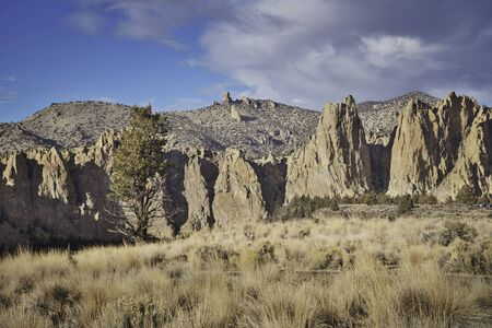Photo of the sunset at the Smith Rock National Park