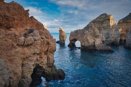 Photo of the natural archs in lagos Portugal