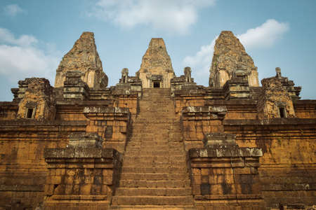 Photo of the Angkor Thom temple and the yellow stones