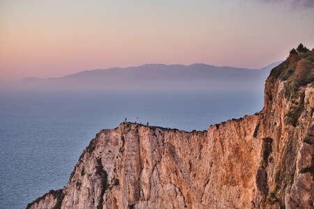 Photo of the mountains of the greek island Zakynthos 스톡 콘텐츠