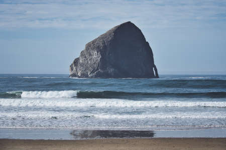 Photo of the pacific city beach in Oregon United States 스톡 콘텐츠