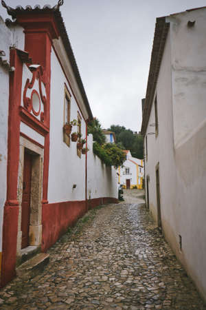 Photo of the Streets Of Obidos Portugal with no people