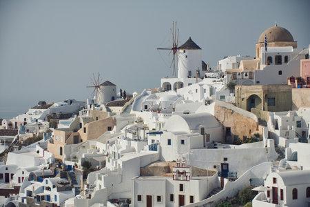 Photo of the Santorini view 스톡 콘텐츠