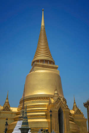 Golden tower at the grand palace in Bangkok Thailand