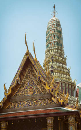 Wat Pho temple in Bangkok and the blue sky