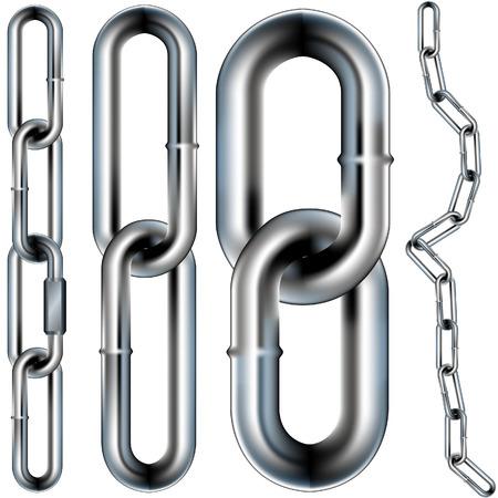 creare: Catena link modello - illustrazione vettoriale. � possibile creare la propria catena perch� il modello � perfetta. Vettoriali