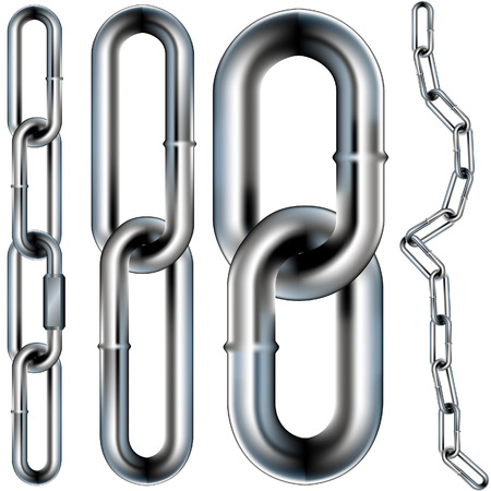 Chain links pattern - vector illustration. You can create your own chain because the pattern is seamless. Vector