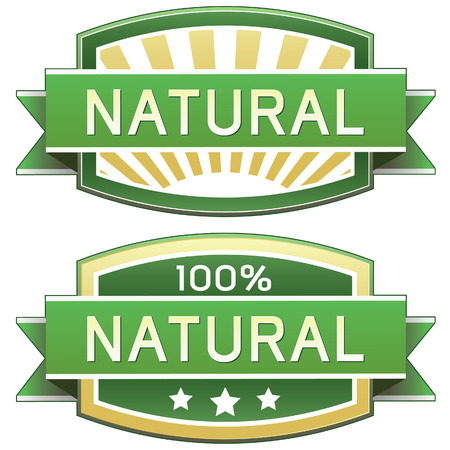 preservatives: Natural food or product label - vector label good for web or print use