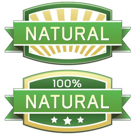 Natuurlijke voedsel of productlabel - vector label goed voor web of print gebruik