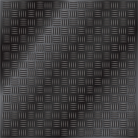 crosshatch: Vector illustration of dark shiny metal cross hatch pattern background Illustration