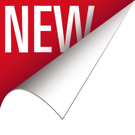 Nieuwe hoek tab of banner voor levensmiddelen en producten