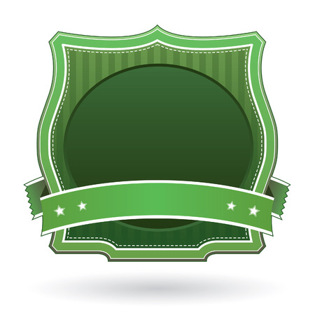 herald: Green blank label sticker for use on logos, packaging, websites, or print materials