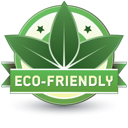 Eco-friendly food, product, or service label - vector label goo for print or web use Çizim