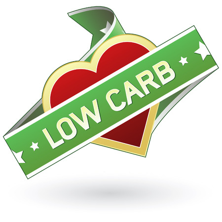 Low carb labels sticker for food product packaging, print materials, or website