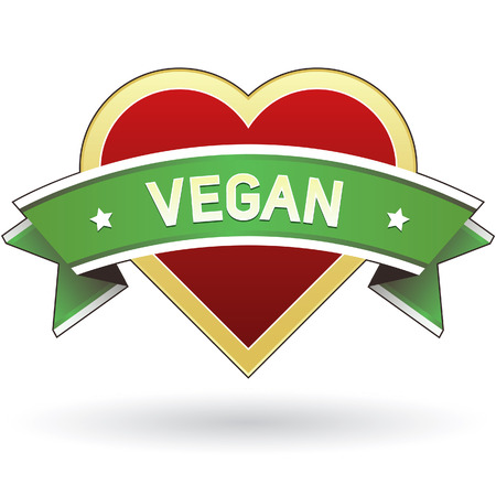 Vegan food label sticker for product website, print materials, or packaging