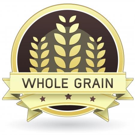 Las etiquetas de los alimentos de grano entero de embalaje, impresión, Web o de uso - vector Foto de archivo - 4695274