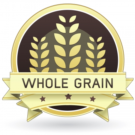 Whole Grain food label for packaging, print, or web use - vector Vector