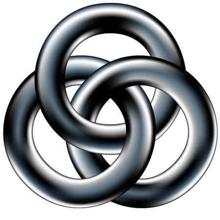 synergie: Keltische Hochzeit Band oder juristische Einheit Symbol - abstrakte Geometrie Vektor Illustration
