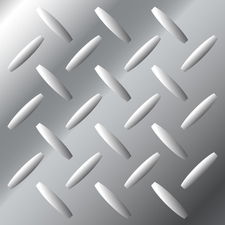 crosshatch: Vector background texture of shiny stainless steel metal with large diamond crosshatch tread pattern