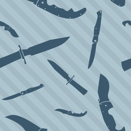 blade: Knife and blade seamless repeating tiled background in vector format Illustration